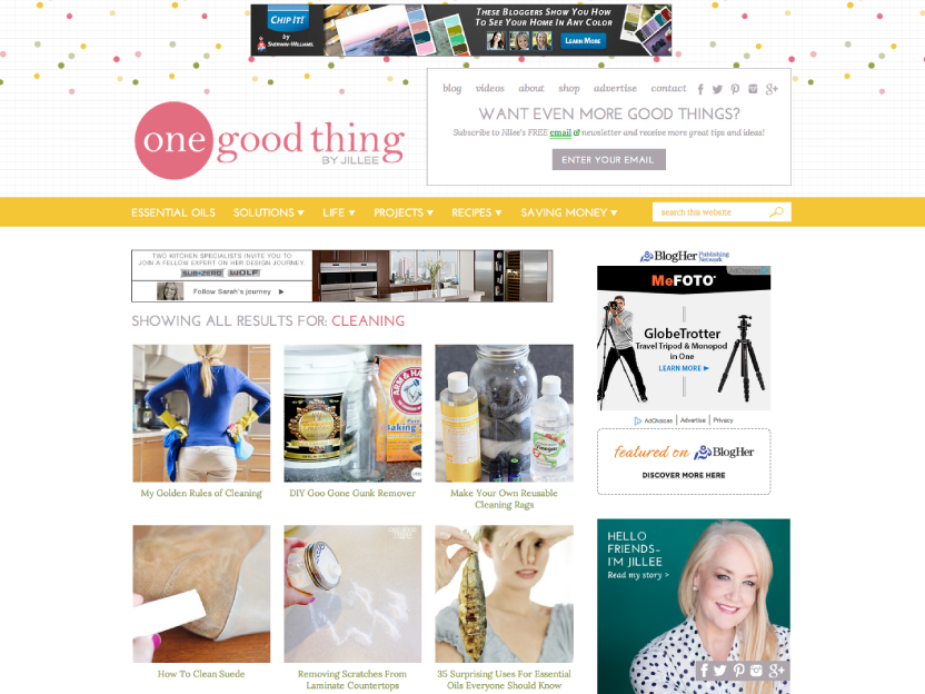 One Good Thing by Jillee - Visual Category Index